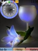 Swf Romantic Clock Mobile Theme