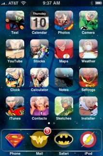 DC Comics Apple IPhone Theme Mobile Theme