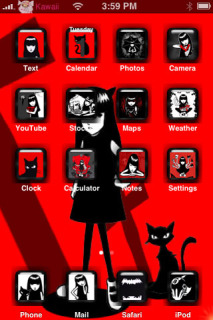 Emily The Strange Apple IPhone Theme Mobile Theme