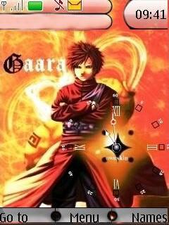 Gaara Clock Mobile Theme