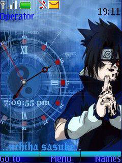 Sasuke Clock Mobile Theme