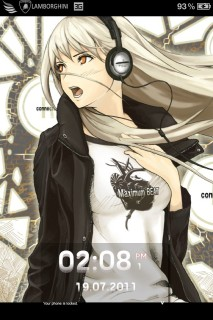 Anime Girl Listen Music IPhone Theme Mobile Theme