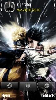 Naruto Vs Sasuke S60v5 Theme Mobile Theme