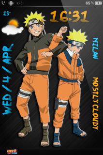 Uzumaki Naruto Anime IPhone Theme Mobile Theme