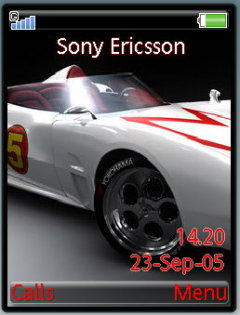 White Racing Car Mobile Theme