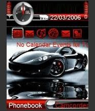 Animated Super Car Mobile Theme