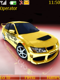 Yellow Car Theme Mobile Theme