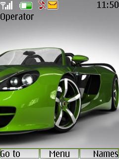 Green Car Theme Mobile Theme