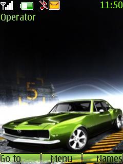 Green Car Mobile Theme