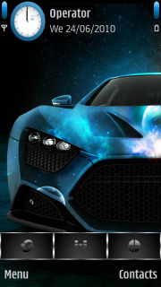 Blue Shiny Car  Mobile Theme