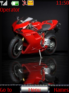 Red Bike Ducati Mobile Theme