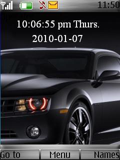 Black Camaro Mobile Theme