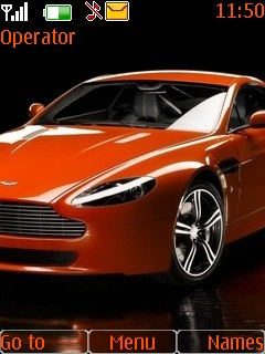 Orange Aston Martin Mobile Theme