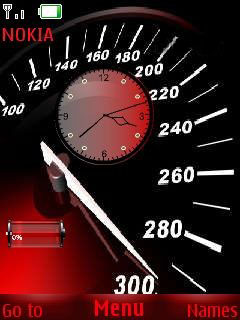 Speedo Meter Clock Mobile Theme