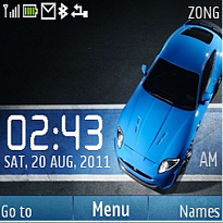Car Clock Mobile Theme