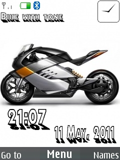 Bike With Tone Mobile Theme