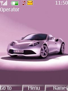 Pink Car Mobile Theme