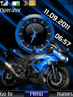 Bike Dual Clock Mobile Theme