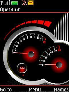 Clock Speedo Meter Mobile Theme