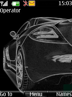 BLack Car Mobile Theme