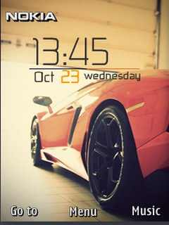 Sports Car Clock S40 Theme Mobile Theme