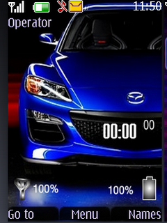 Blue Car S40 Theme Mobile Theme