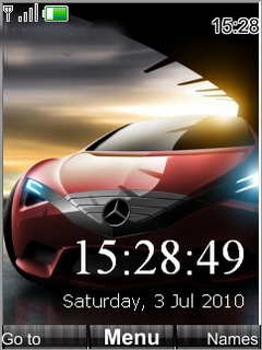 Swf Car Clock S40 Theme Mobile Theme