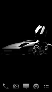 Black Beauty Faster Car For Android Theme Mobile Theme