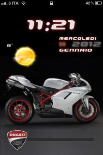 Sports Bike Clock IPhone Theme Mobile Theme