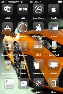 Orange Car Front IPhone Theme Mobile Theme