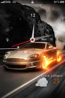 Cars Clock Lockscreen IPhone Theme Mobile Theme