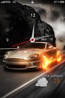 Cars Clock Lockscreen IPhone Theme Mobile Theme