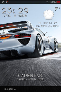 Speedy Car Time IPhone Theme Mobile Theme