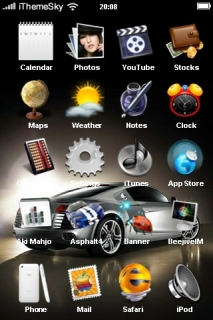 Car Sports Free IPhone Theme Mobile Theme