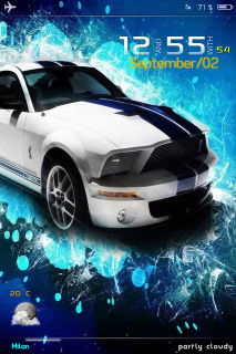 LS GT Car IPhone Theme Mobile Theme