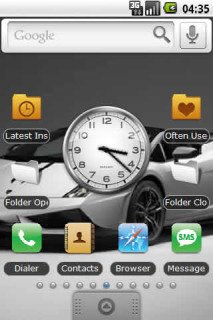 Silver Beauty Car Android Theme Mobile Theme