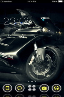 Sports Black Bike Free Android Theme Mobile Theme