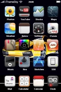 Lamborghini Yellow Car IPhone Theme Mobile Theme