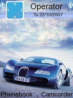 Blue Car Mobile Theme