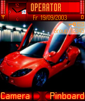Red Car 001 Mobile Theme