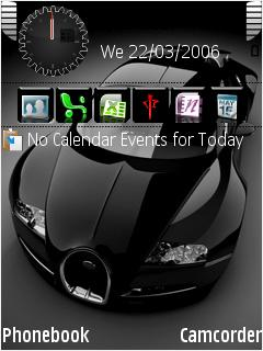 Black Veyron Mobile Theme