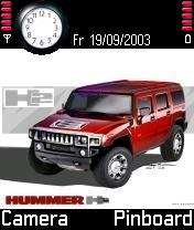 Red Hummer Mobile Theme