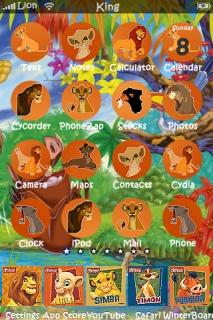 Lionking IPhone Theme Mobile Theme