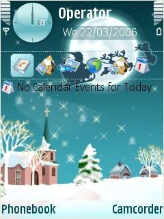 Santa Fly Mobile Theme