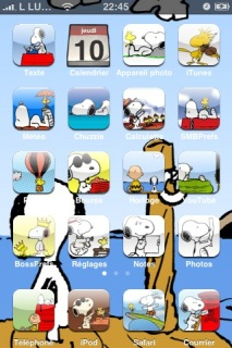 Snoopy IPhone Theme Mobile Theme
