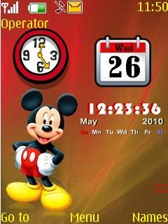 Mickey Calender Nokia Theme Mobile Theme