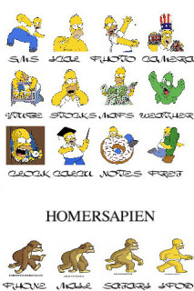 Homer Sapien Apple IPhone Theme Mobile Theme
