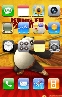 KungFu Panda IPhone Theme Mobile Theme