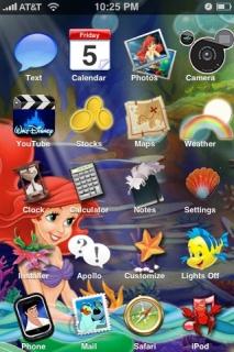 Little Mermaid Theme Mobile Theme