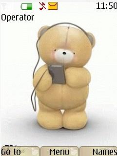Dancing Teddy Theme Mobile Theme